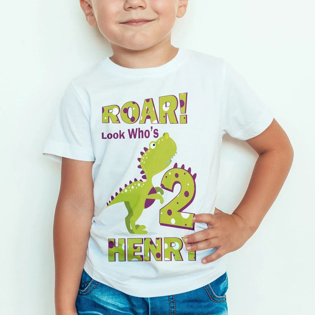 ROAR! Personalized Dinosaur T-Shirt