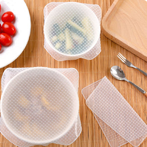 Reusable Silicone Food Wraps (Pack of 4)