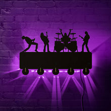 Load image into Gallery viewer, Rock Band LED Wall Hook Rack