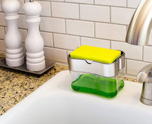 Load image into Gallery viewer, Soap Dispenser & Sponge Holder