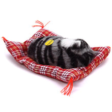 Load image into Gallery viewer, Sleeping Cat Plush Toy with Sound
