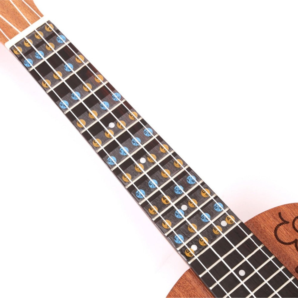 Ukulele Fretboard Note Stickers