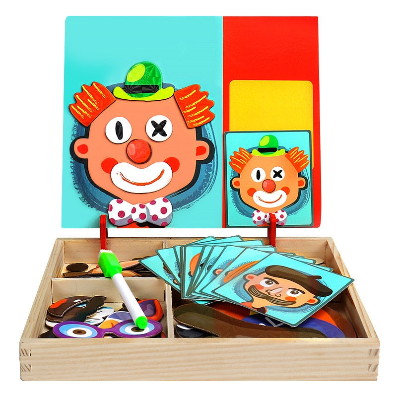 Multifunctional Magnetic Puzzle & Drawing Board