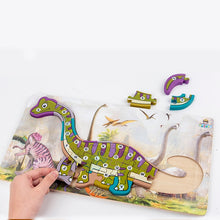 Load image into Gallery viewer, Wooden 3D Dinosaur Educational Puzzle