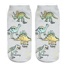 Load image into Gallery viewer, Dinosaur Ankle Socks