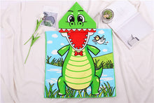 Load image into Gallery viewer, Dinosaur Hooded Beach Towel