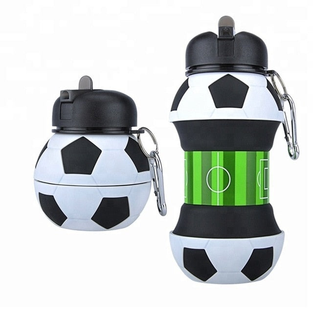 Collapsible Football Water Bottle