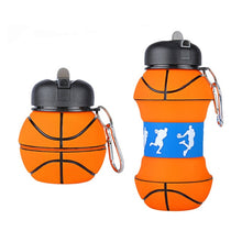 Load image into Gallery viewer, Collapsible Basketball Water Bottle