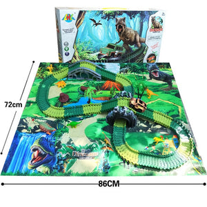 Dino World Track Set with Playmat
