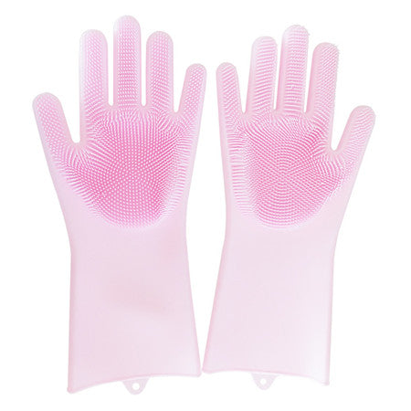 Multipurpose Silicone Gloves with Scrubber