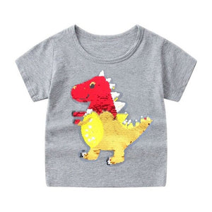 Dinosaur Reversible Sequin T-Shirt