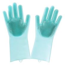 Load image into Gallery viewer, Multipurpose Silicone Gloves with Scrubber