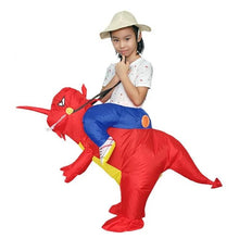 Load image into Gallery viewer, Inflatable Ride-On Walking Dinosaur Costume