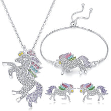 Load image into Gallery viewer, Crystal Unicorn Jewelry Set