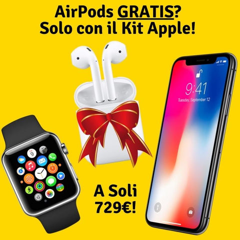 Kit Apple - iPhone X 256, Apple Watch 3 42mm, AirPods