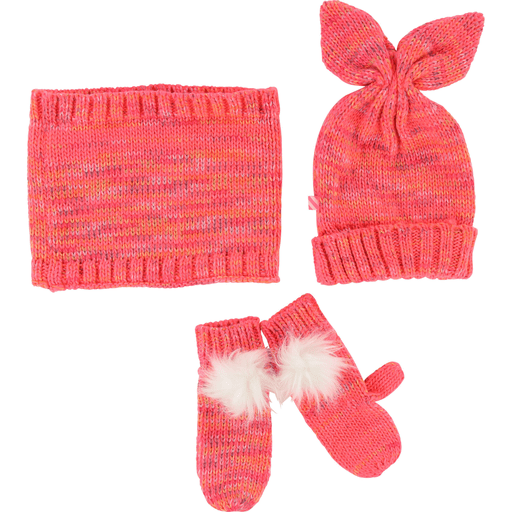 Billieblush Accessoires 12M / Rose Ensemble tuque, foulard et mitaines Beanie, scarf and mittens kit