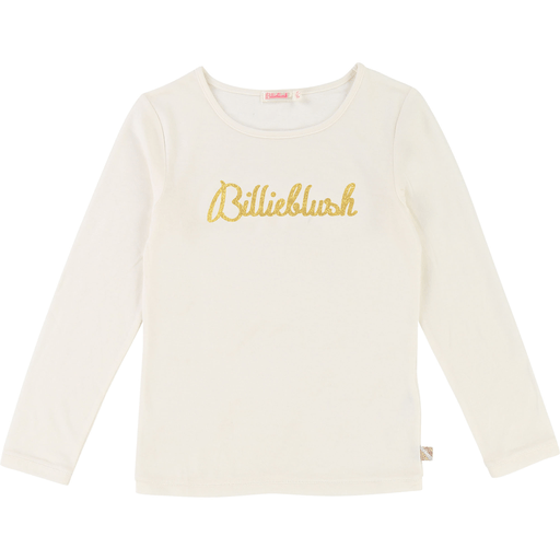 Billieblush Chandails 10Y / Blanc T-shirt de couleur riz, logo doré Rice colored t-shirt