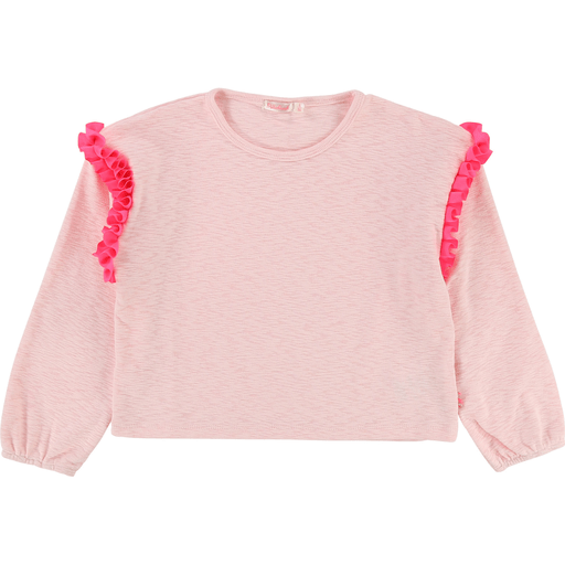 Billieblush Chandails 10Y / Rose T-shirt rose pastel court Light pink short t-shirt