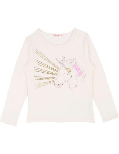 Billieblush Chandails 12Y / Blanc T-shirt couleur riz T-shirt