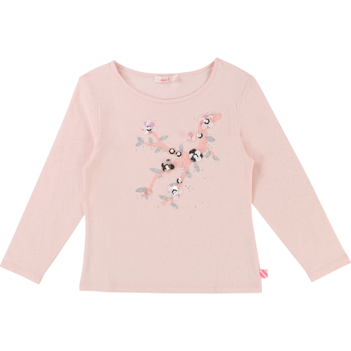 Billieblush Chandails 12Y / Rose T-shirt rose pastel avec bijoux Light pink jewelled t-shirt