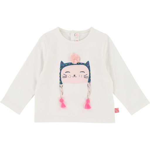 Billieblush Chandails 3Y / Blanc T-shirt petit chat Little cat t-shirt
