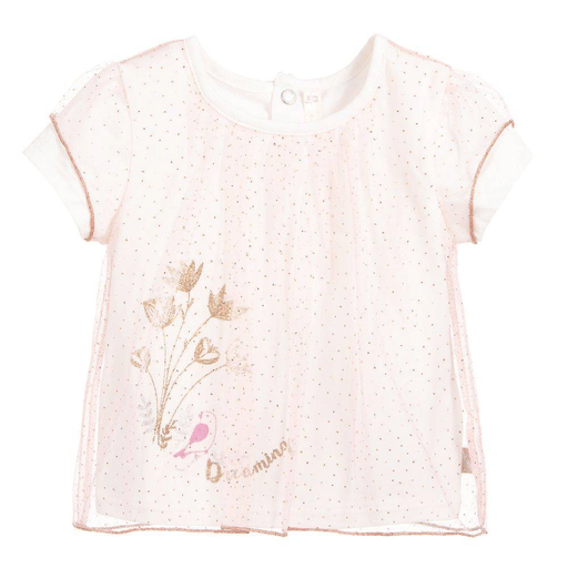 Billieblush Chandails 3Y / Rose T-shirt en dentelle Mesh t-shirt