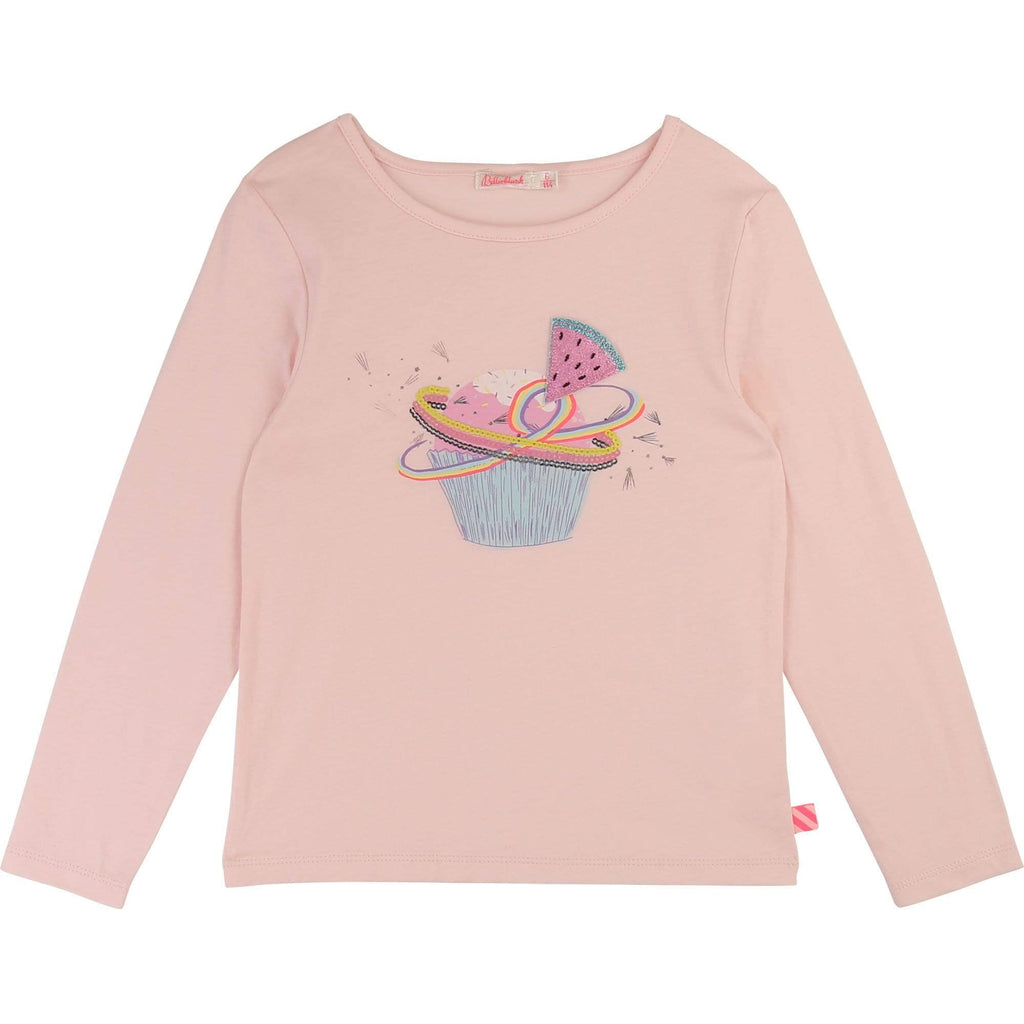 Billieblush Chandails 4Y / Rose T-shirt en jersey coton