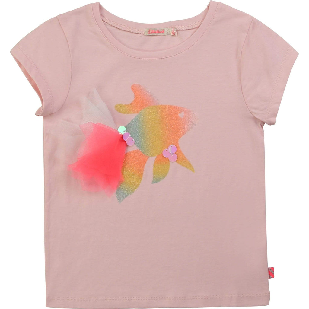 Billieblush Chandails Chandail rose poisson Pink fish t-shirt