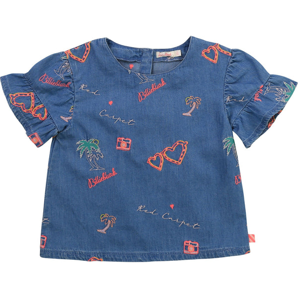Billieblush Chemises Chemisier en denim Denim blouse