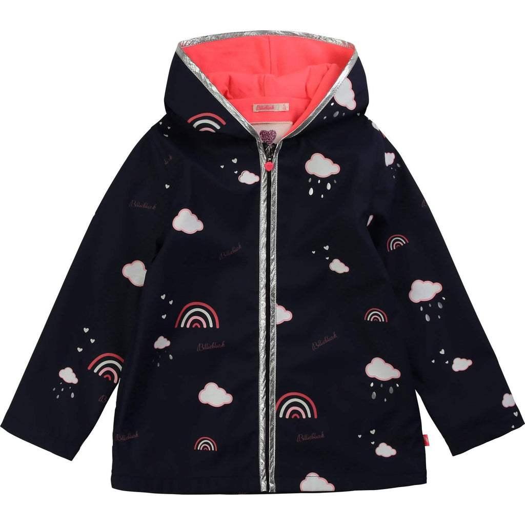 Billieblush Manteaux Ciré bleu marin Navy blue raincoat