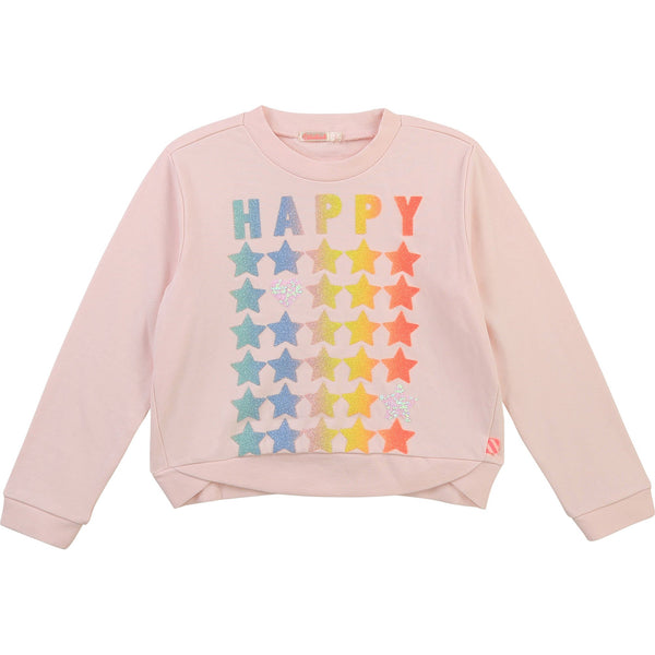 Billieblush Pulls Pull rose Happy pink sweat