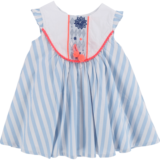 Billieblush Robes 3Y / Bleu Robe rayée bleue Striped blue dress