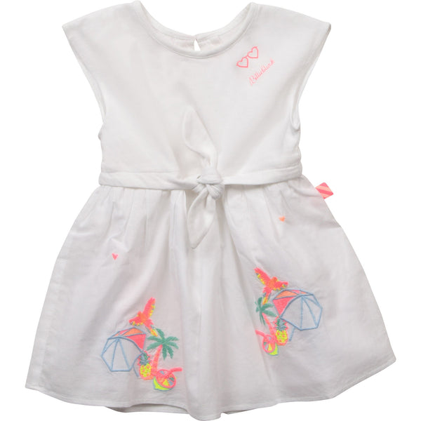 Billieblush Robes Robe blanche tropicale White tropical dress
