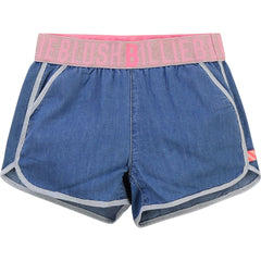 Billieblush Shorts Short en denim élastique à la taille Denim waistband short