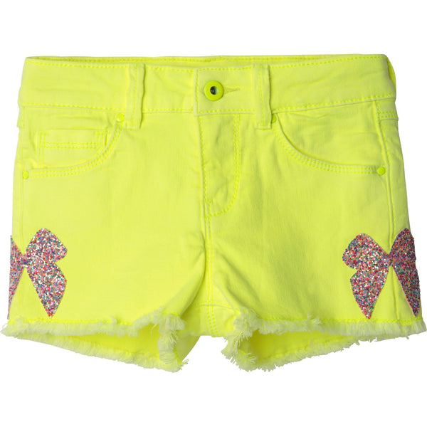 Billieblush Shorts Short jaune avec boucle Yellow short with bows