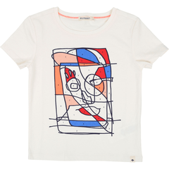 BillyBandit Chandails 12Y / Blanc T-Shirt gris clair chine imprimé   Light Grey Imprinted T-Shirt