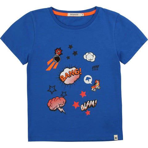 BillyBandit Chandails Chandail bleu éclaté Pop blue t-shirt