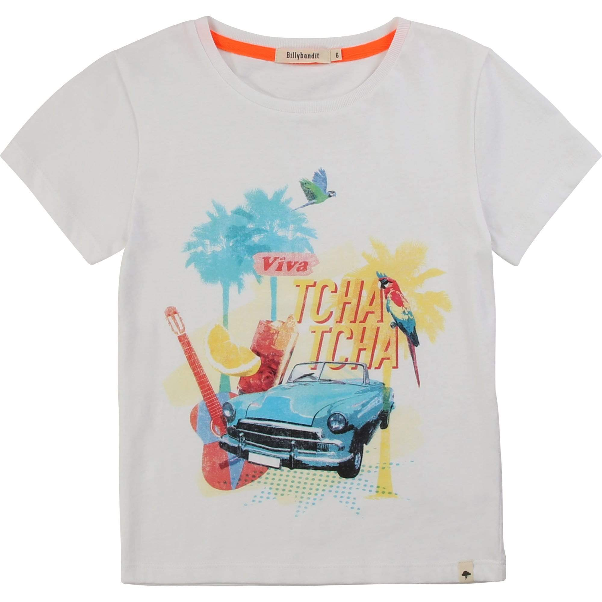 BillyBandit Chandails T-shirt tropical blanc White tropical t-shirt