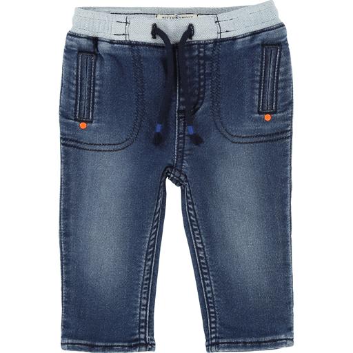 BillyBandit Pantalons 3Y / Bleu Jeans poches contrastantes Jeans with fancy pockets