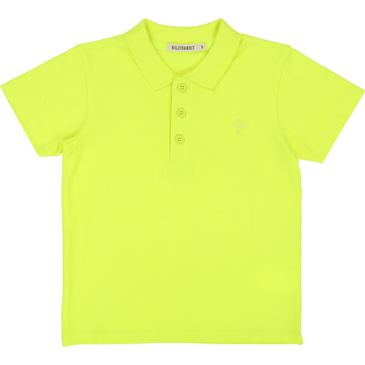 BillyBandit Polos 12Y / Jaune Polo jaune fluo  Neon Yellow Polo Shirt