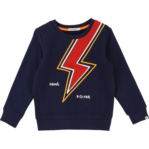 BillyBandit Pulls 12Y / Bleu Pull éclair rouge Blue thunder sweat