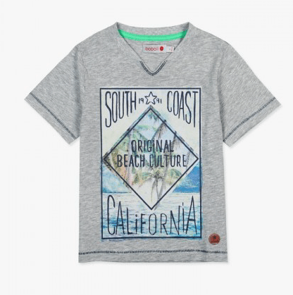 Boboli Chandails 10Y / Gris Tee-shirt gris imprimé Grey tee-shirt with printed