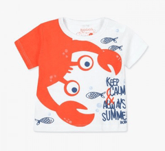 Boboli Chandails 18M / Orange Tee-shirt animé Animated tee-shirt