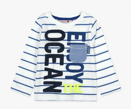Boboli Chandails 4Y / Blanc Tee-shirt avec imprimé Tee-shirt with printed