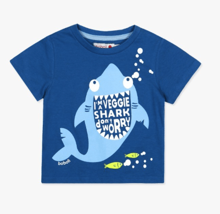 Boboli Chandails 4Y / Bleu Tee-shirt requin Tee-shirt with shark