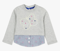 Boboli Hauts 4Y / Gris Top avec animation Top with animation