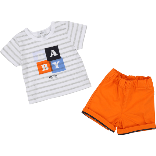 Boss Ensembles 18M / Orange Ensemble blanc et orange ;  White and Orange Kit