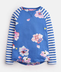 Boutique Lollipop Bleu / 3Y Chandail fleuri Floral t-shirt