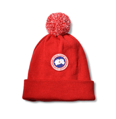 Canada Goose Accessoires O/S / Rouge Tuque rouge pompom  Red pompom hat