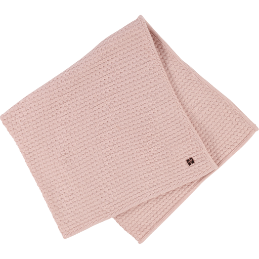 Carrément Beau Accessoires O/S / Rose Couverture rose en tricot Pink knitted blanket